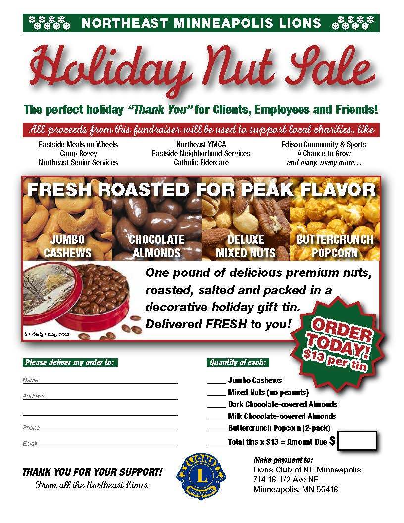 Holiday Nut Sale Flyer